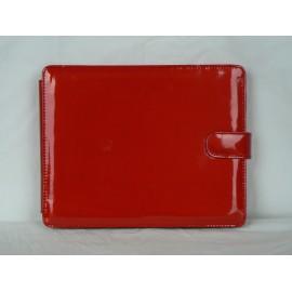 Etui pochette vernis rouge pour Ipad 1 + film protection ecran