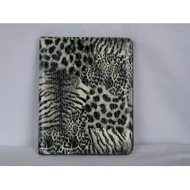 Etui pochette motif leopard noir et blanc pour Ipad 1 + film protection ecran
