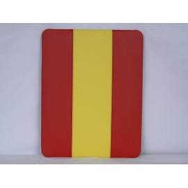 Coque en cuir + Etui cuir drapeau Espagne pour Ipad 1 + film protection ecran