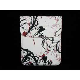 Etui en tissu plastifie motif graphiti pour Ipad 2 et Ipad 1+ film protection ecran offert