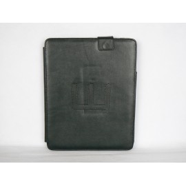 Pochette en simili cuir noir pour Ipad 1 + film protection ecran offert