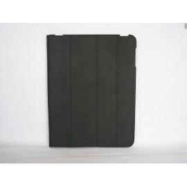 Pochette en cuir noire granite pour Ipad 2 + film protection ecran