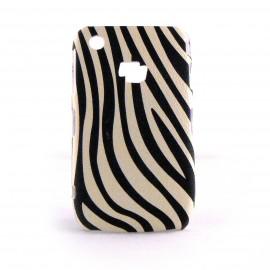 Coque Blackberry 8520 Curve motif zebre noire et beige + film protection ecran offert