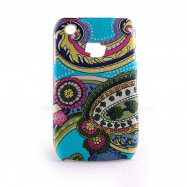 Coque rigide mate motif cachemire Blackberry 8520 Curve + film protection ecran offert