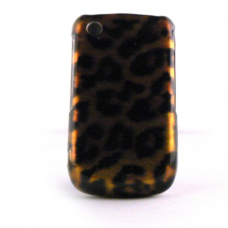 Coque integrale leopard pour Blackberry 8520 Curve+ film protection ecran offert
