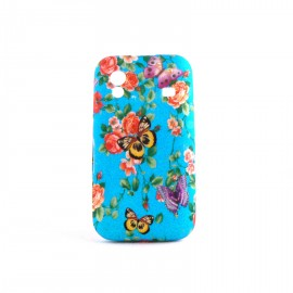 Coque silicone fleurs et papillons pour Samsung S5830 Galaxy Ace + film protection ecran offert