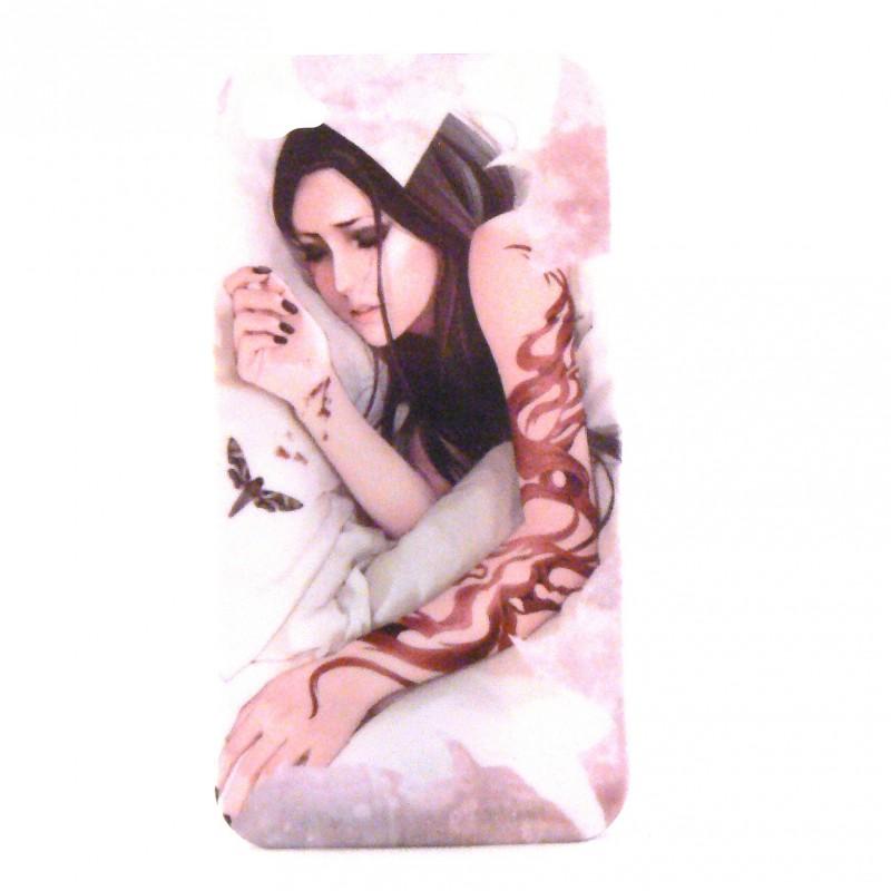 coque rigide et mate manga jeune fille tatouage bras pour iphone 4 film protection cran. Black Bedroom Furniture Sets. Home Design Ideas