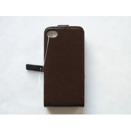 Pochette fine cuir granité pour Iphone 4 + film protection écran