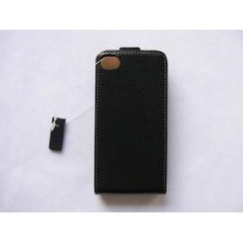Pochette étui cuir granité pour Iphone 4 + film protection écran
