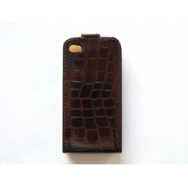Pochette Etui cuir croco pour Iphone 4 + film protection écran