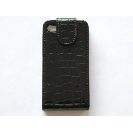 Pochette Etui cuir croco version 2 pour Iphone 4 + film protectin écran