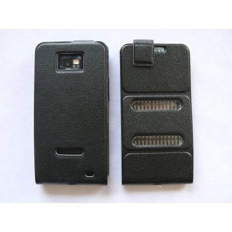 Pochette en simili-cuir rabat pliant pour Samsung I9100 Galaxy S2 + film protection écran