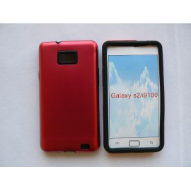Coque Samsung Galaxy S2 I9100 métal intérieur silicone + film protection écran