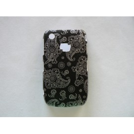 Coque Blackberry Curve 8520/9300 brillante motif cachemire + film protection écran