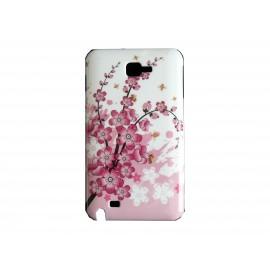 Coque brillante fleurs roses pour Samsung Galaxy Note I9220/N7000 + film protection écran offert
