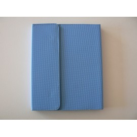 Etui pochette Ipad 2 bleue antidérapante + film protection écran