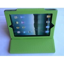 Etui pochette Ipad 2 verte antidérapante + film protection écran