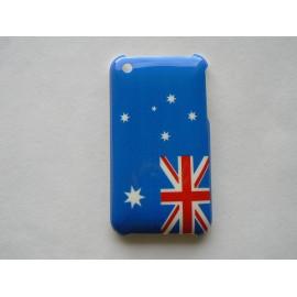 Coque rigide drapeau Australie pour Iphone 3 + film protection écran offert