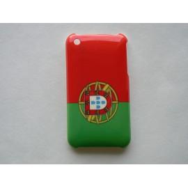 Coque rigide drapeau Portugal pour Iphone 3 + film protection écran offert