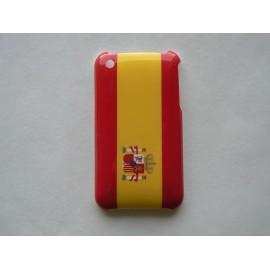 Coque rigide drapeau Espagne pour Iphone 3 + film protection écran offert
