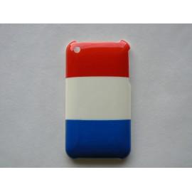 Coque rigide drapeau France pour Iphone 3 + film protection écran offert