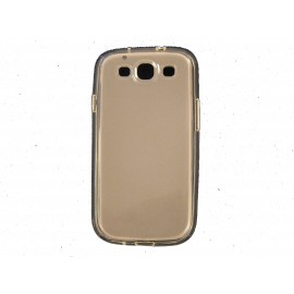 Coque pour Galaxy S3 I9300 semi-rigide glossy transparente + film protection ecran offert