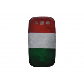Coque pour Samsung I9300 Galaxy S3 silicone vintage drapeau Italie + film protection écran offert