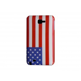 Coque rigide drapeau USA pour Samsung Galaxy Note I9220/N7000 + film protection écran offert