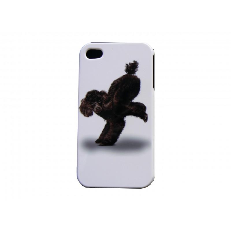 coque pour iphone 4 chien caniche noir film protection. Black Bedroom Furniture Sets. Home Design Ideas