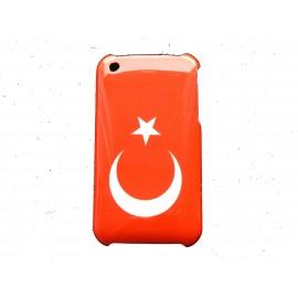 Coque rigide drapeau Turquie pour Iphone 3 + film protection écran offert