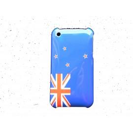 Coque rigide drapeau Nouvelle Zélande pour Iphone 3 + film protection écran offert