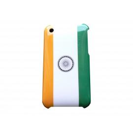 Coque rigide drapeau Inde pour Iphone 3 + film protection écran offert