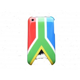 Coque rigide drapeau Afrique du Sud pour Iphone 3 + film protection écran offert