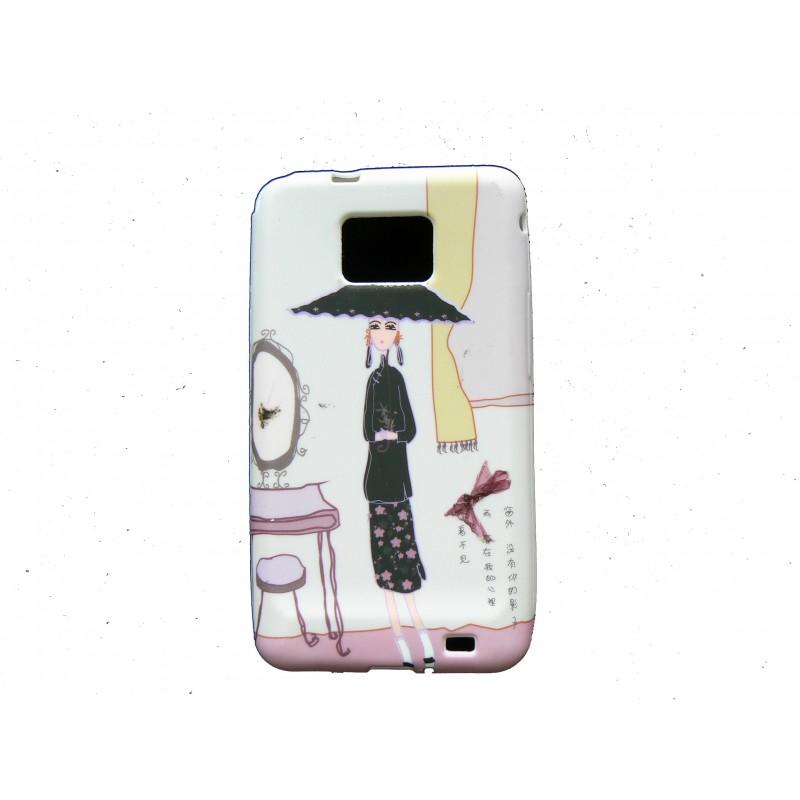 Coque pour samsung i9100 galaxy s2 silicone dame miroir for Miroir pc ecran