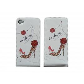 Pochette pour Iphone 4 en simili-cuir chaussure rouge et strass + film protection écran