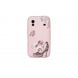 Coque pour Samsung S5830 Galaxy Ace silicone rose chaussure + film protection écran offert