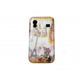 Coque pour Samsung S5830 Galaxy Ace carte postale Paris Londres  + film protection écran offert