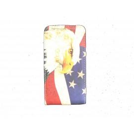 Pochette pour Samsung I9100 Galaxy S2  drapeau USA/Etats Unis aigle + film protection écran