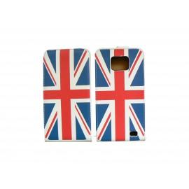 Pochette pour Samsung I9100 Galaxy S2 drapeau UK/Angleterre + film protection écran