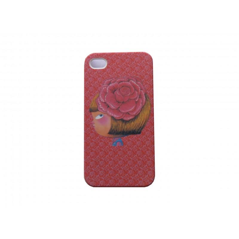 coque pour iphone 4 rose petite fille rose dans les cheveux   film protection  u00e9cran