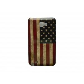 Coque rigide drapeau USA vintage pour Samsung Galaxy Note I9220/N7000  + film protection écran offert