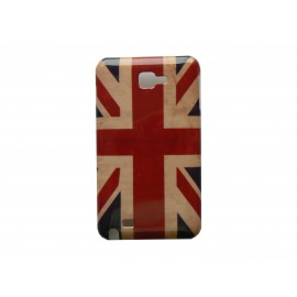 Coque rigide drapeau UK/Angleterre vintage pour Samsung Galaxy Note I9220/N7000  + film protection écran offert