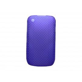 Coque ultra-fine bleue pour Blackberry 8520 Curve microperforée + film protection écran offert