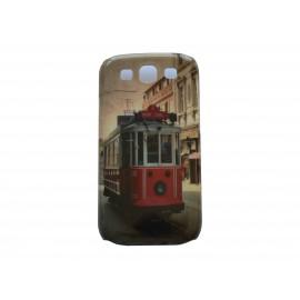 Coque pour Samsung I9300 Galaxy S3 brillante trolley + film protection écran offert