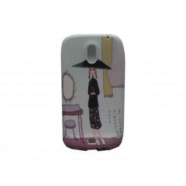 Coque pour Samsung I9250 Galaxy Nexus Prime silicone dame miroir + film protection écran offert