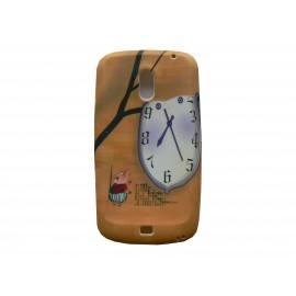 Coque pour Samsung I9250 Galaxy Nexus Prime silicone horloge petit cochon + film protection écran offert