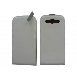 Pochette Etui cuir blanc pour Samsung I9300 Galaxy S + film protectin écran