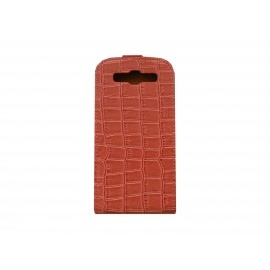 Pochette Etui pour Samsung I9300 Galaxy S rose simili-cuir crocodile + film protectin écran