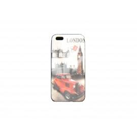 Coque pour Iphone 5 Londres Angleterre Big Ben voiture rouge+ film protection écran offert