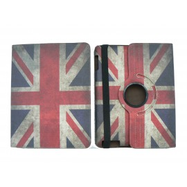 Pochette Ipad 2/3 vintage drapeau UK/Angleterre version 3+ film protection écran